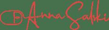 Logo von Computermaus und Schriftzug Anna Salski in rot