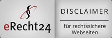 Disclaimer von recht24 für einen sicheren Webauftritt