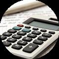 Bild eines Taschenrechners zur Kalkulation eines Angebotes