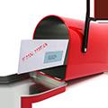 Bild eines Briefkastens und einer Rechnung